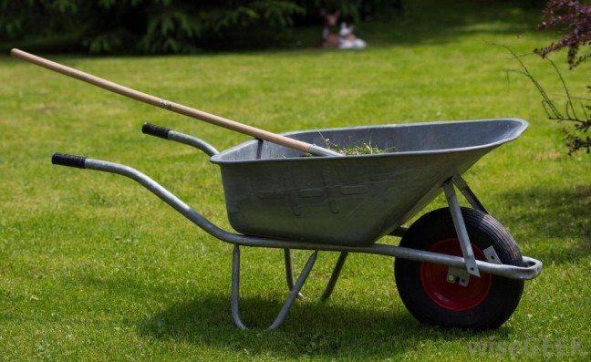 garden wheelbarrow and rake perth garden