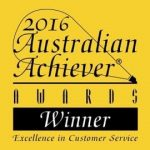 Winner of the 2016 Australian Achiever Awards for Excellence in Customer Service.
